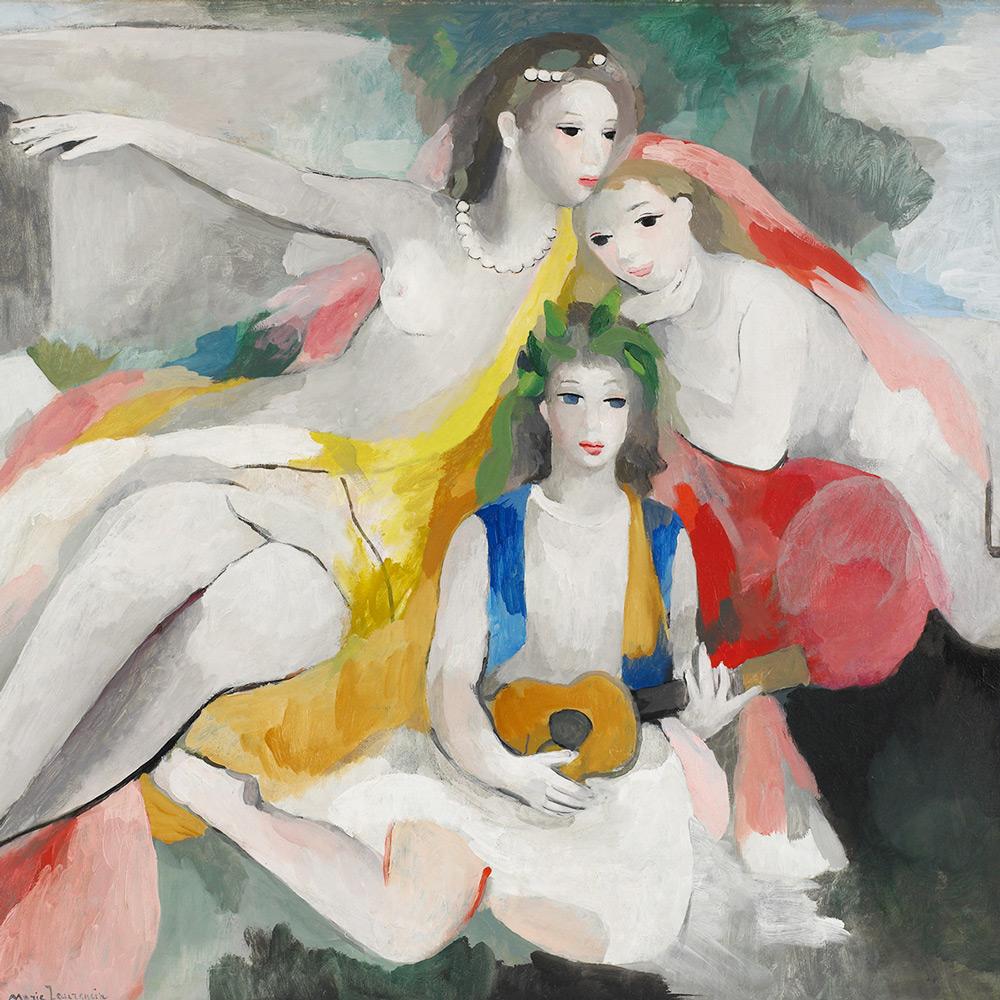 マリーローランサン「三人の若い娘」
