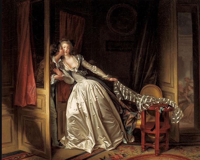 ジャン=オノレ・フラゴナールとマルグリット・ジェラール「盗まれた接吻」